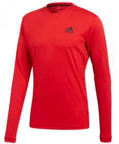 Adidas Men's UV Protection Long Sleeve Tee Scarlet CW0138