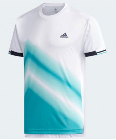 Adidas Men's Center Court Club Tee 2 Top Hi-Res Aqua CZ0548