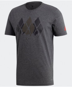 Adidas Men's Barricade Graphic Tee T-Shirt Dark Grey Heather DJ1693