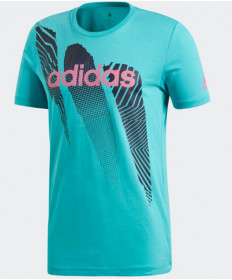 Adidas Men's Seasonal Graphic Tee T-Shirt Hi-Res Aqua DJ1719