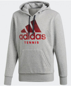 Adidas Men's Graphic Hoody Medium Grey Heather DM7465