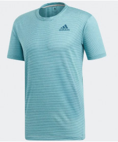 Adidas Men's Parley Stripe Tee Top Blue Spirit DP0286
