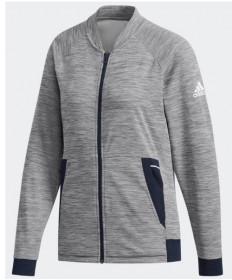 Adidas Women's Knit Jacket Grey Heather DQ2953