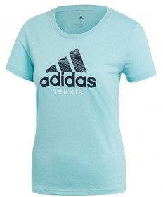 Adidas Women's Category Tee T-Shirt Blue Spirit DV2973