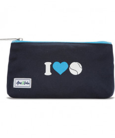 Ame & Lulu Icon Brush It Off Cosmetic Case I Heart Tennis ICBC134