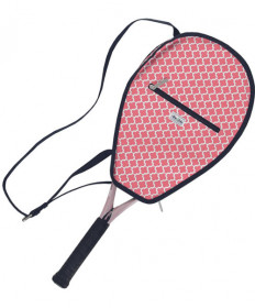 Ame & Lulu Riley Racquet Cover Clover Pink/Navy RC090