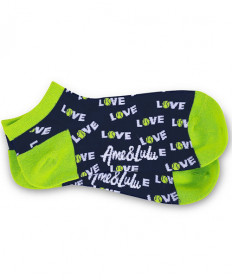 Ame & Lulu Meet Your Match Socks Green SOCKS117