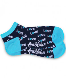 Ame & Lulu Meet Your Match Socks Turquoise SOCKS120