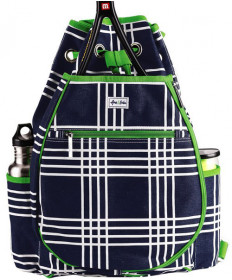Ame & Lulu Kingsley Backpack Parker Plaid Navy/Green TBP098
