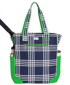 Ame & Luu Emerson Tote Bag Parker Plaid Navy/Green TTN098