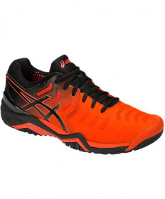 Asics Men's Gel Resolution 7 Shoes Cherry Tomato / Black E701Y-801