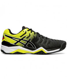 Asics Men's GEL Resolution 7 Shoes Black / Sour Yuzu E701Y.003