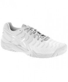 Asics Women's GEL Resolution 7 Shoes White/Silver E751Y-0193