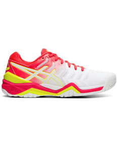 Asics Women's GEL Resolution 7 Shoes White / Laser Pink E751Y.116
