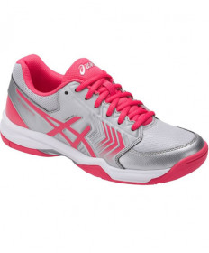 Asics Women's Gel Dedicate 5 Shoes Silver/Rouge E757Y-9319