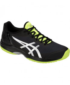 Asics Men's Gel Court Speed Shoes Black/Flash Yellow E800N-001