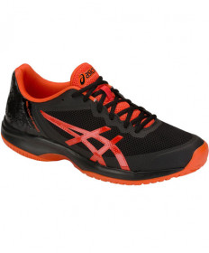 Asics Men's Gel Court Speed Shoes Black / Cherry Tomato E800N.001