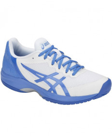 Asics Women's Gel Court Speed Shoes White / Blue Coast E850N.109