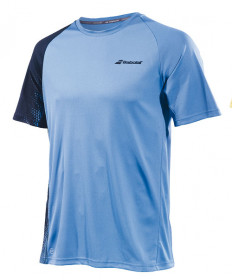 Babolat Men's Performance Crew Neck Tee Parisian Blue / Black 2MS19011-4039