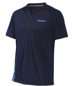 Babolat Men's Performance Polo Black / Parisian Blue 2MS19021-2011