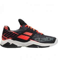 Babolat Men's Propulse Fury All Court Shoes Black / Fluo Strike 30S19208-2012