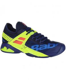Babolat Men's Propulse Rage All Court Shoes Blue/Fluo Aero 30S19769-4043