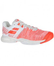 Babolat Womens Propulse Blast AC Shoes White/Fluo Strike 31S19447-1023