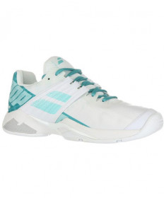 Babolat Women's Propulse Fury AC Shoes White / Mint Green 31S19477-1027