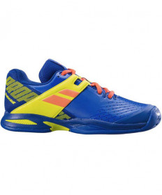 Babolat Juniors' Propulse All Court Shoes in Blue / Fluo Aero 32S19478-4043