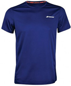 Babolat Men's Crew Flag Club Tee Estate Blue 3MS18011-4000
