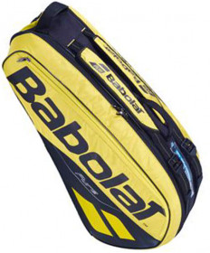 Babolat Pure Aero Racquet Holder 6 Pack Bag Black/Yellow 2019 751182-191
