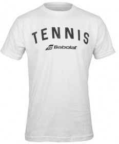 Babolat Men's Tennis Logo Tee White 911065-U03