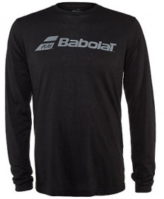 Babolat Men's Long Sleeve Logo Tee Black 911072-U08