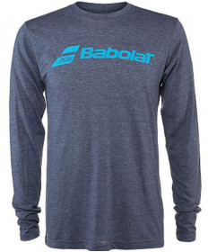 Babolat Men's Long Sleeve Logo Tee Heather Navy 911072-U09