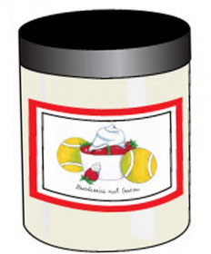 Bloom Designs Soy Tennis Candle