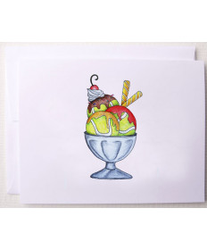 Bloom Designs Note Cards Sundae Tennis Notes-ST