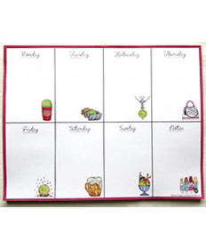 Bloom Designs Weekly Planner Pad Tennis WPP