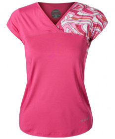 Bolle Color Burst Cap Sleeve Top Fuchsia 8429-7411