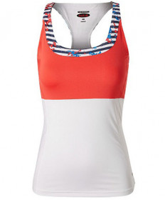 Bolle Catalina HP Racerback Tank White / Coral Red 8482-0110