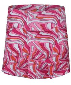 Bolle Color Burst Pleated Bottom Skirt Color Burst Print 8692-7411