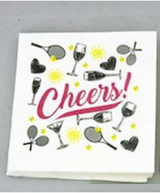 Cute Tennis Napkins Cheers NAPKINS-CH