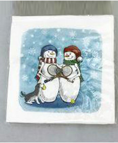 Cute Tennis Napkins Tennis Snowmen NAPKINS-TS
