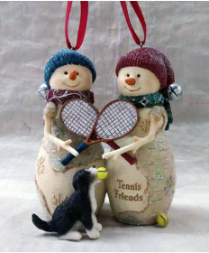 Cute Tennis Two Tennis Friends Ornament ORN-TTF