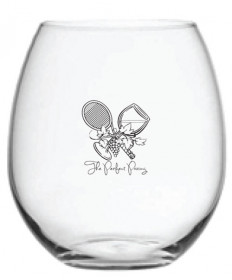Cute Tennis Perfect Pairing Stemless Wine Glass  PP-SWG-W