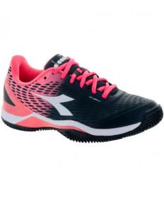 Diadora Women's Speed Blushield 2 AG Black/Coral 17292-C7285