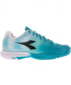Diadora Women's S.Comp 4 AG Shoes White/Blue 172998-C6415