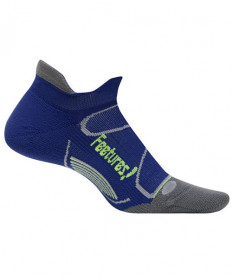 Feetures! Elite Light Cushion No Show Tab Navy Socks, Medium