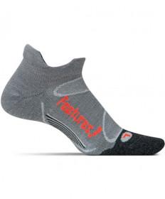 Feetures! Merino plus Light Cushion No Show Tab Grey Socks, Large EM500603