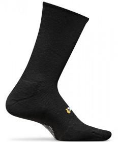 Feetures! High Performance Light Cushion Crew Socks Black, Large