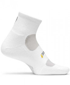 Feetures! High Performance Light Cushion Quarter Socks, Large